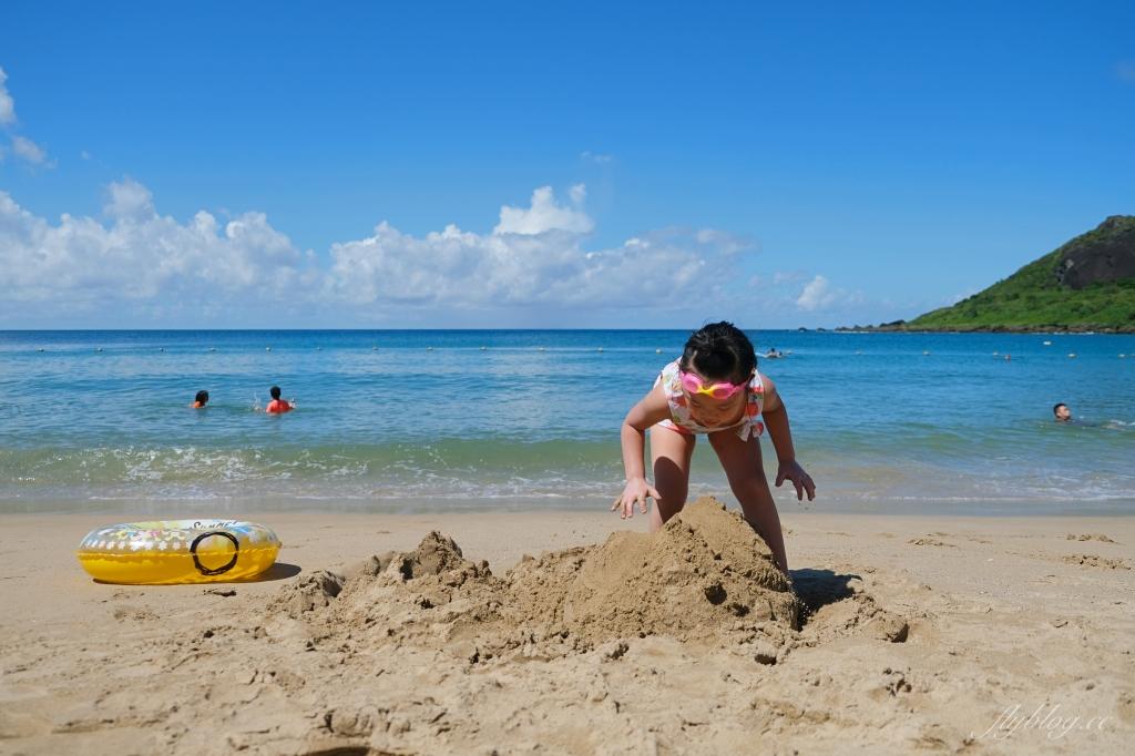 小灣沙灘:離墾丁大街最近的沙灘,可以參加香蕉船等戲水活動 @飛天璇的口袋