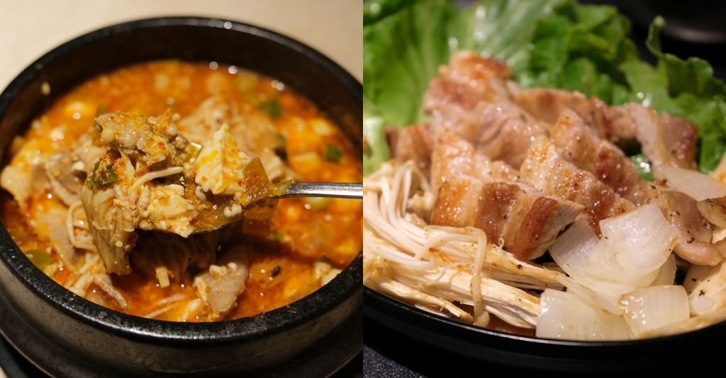 上岩阿哲西韓式料理:一個人也可以品嚐韓式料理,部隊鍋、馬鈴薯鍋和辣豆腐鍋都吃得到 @飛天璇的口袋