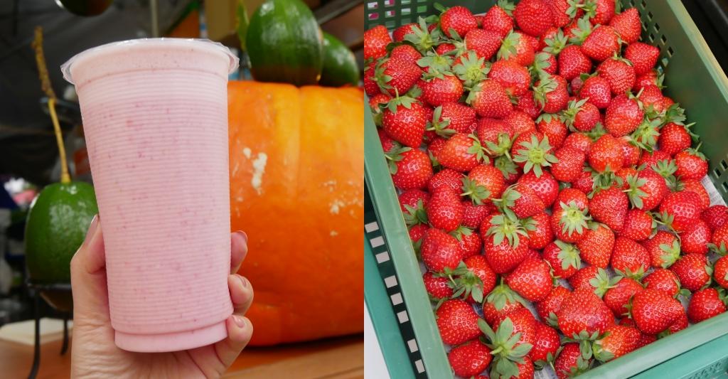 文化路酪梨牛奶專賣店:文化路夜市的人氣飲料攤,全年供應草莓牛奶好喝 @飛天璇的口袋