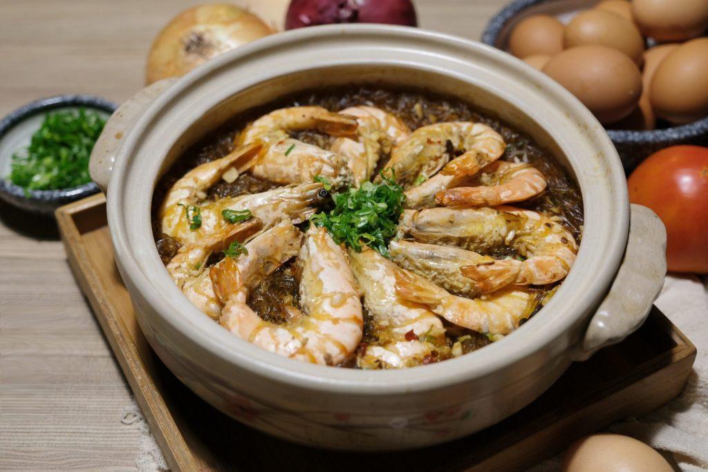 鮮蝦粉絲煲:簡單易做的居家料理,好吃又下飯宴客也有面子 @飛天璇的口袋