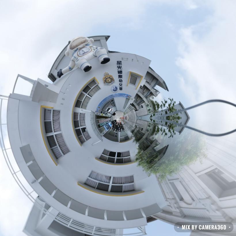 【台中南屯】 星光國際幼兒園:巨型太空人飛上屋頂囉!台中七期北歐風幼稚園 @飛天璇的口袋