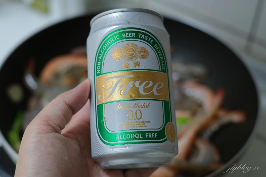 蒜香啤酒蝦:熱炒店啤酒蝦端上桌,B露喝不完也不怕浪費 @飛天璇的口袋