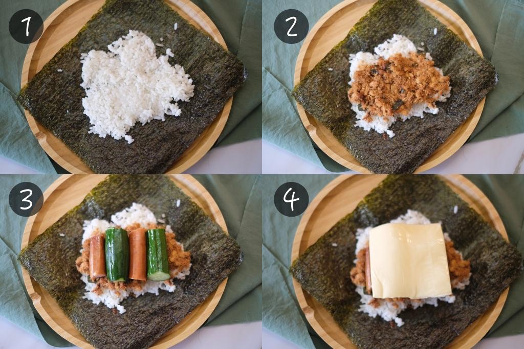 【食譜分享】三種海苔飯糰的製作方式:韓式折疊飯糰 x 日式免捏飯糰 x 日本沖繩飯糰 @飛天璇的口袋