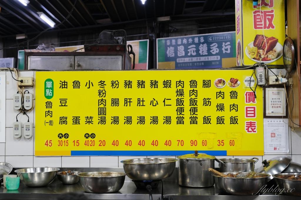 台中中區|李海魯肉飯 第二市場在地超過60年,夜貓子最愛的宵夜美食 @飛天璇的口袋