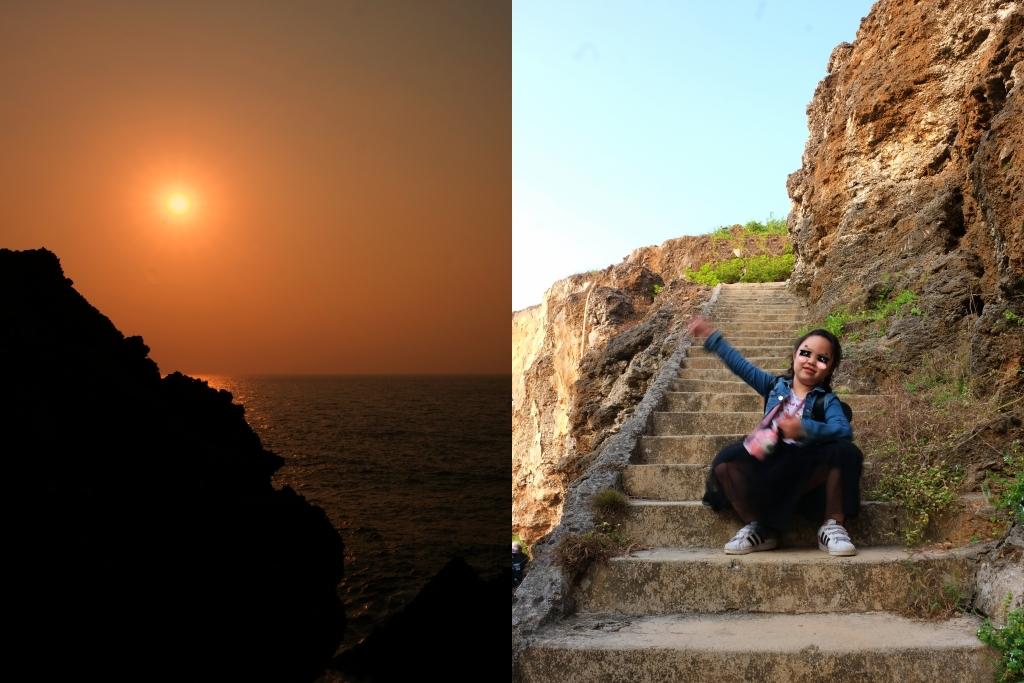 屏東小琉球|永安橋遺址 最棒的欣賞落日秘境,遠古流傳的珊瑚岩 @飛天璇的口袋
