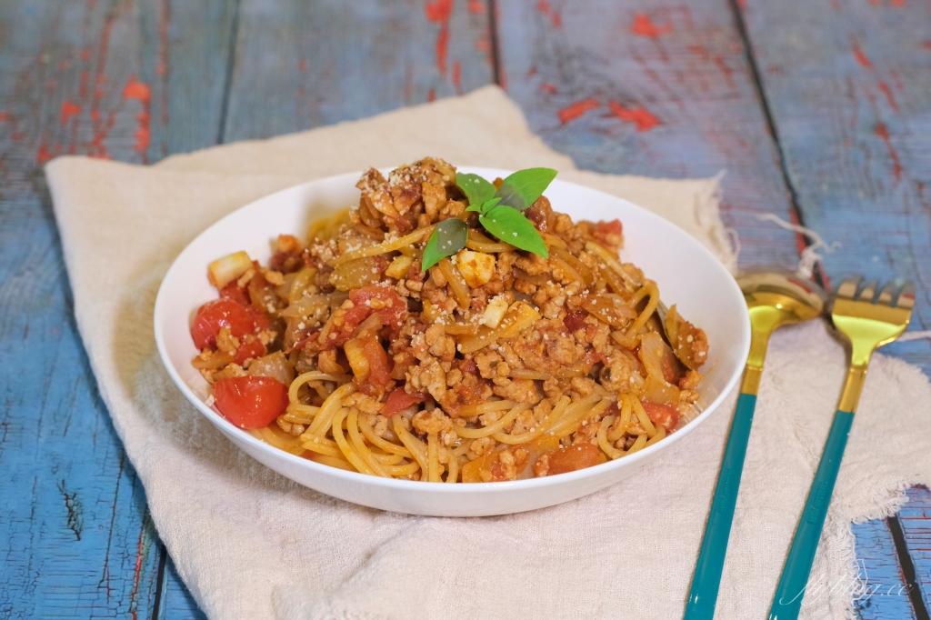 食譜分享|番茄肉醬義大利麵 最簡易版偷吃步的義大利麵做法,第一次煮紅醬就上手 @飛天璇的口袋