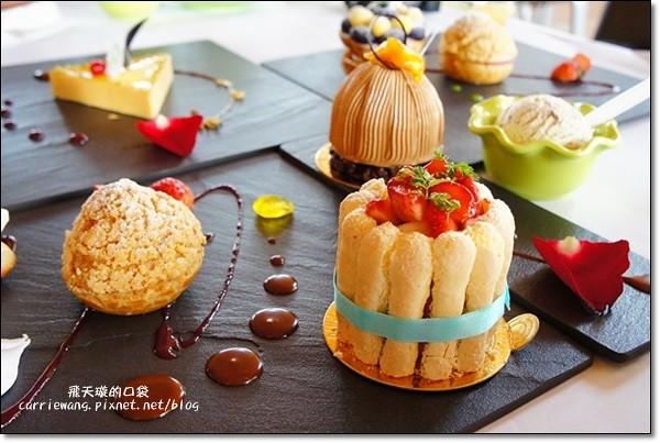 【台中蛋糕甜點】蝴蝶橋甜點美食莊園。法式甜點吸睛又華麗,腹地廣大環境悠閒,北屯區美食又一發 @飛天璇的口袋