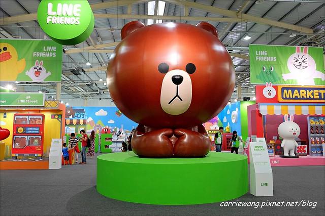 【LINE FRIENDS 互動樂園。台中場】可愛的LINE貼圖從手機躍上實境,台中場於6/21~9/14在大台中國際會展中心展出 @飛天璇的口袋