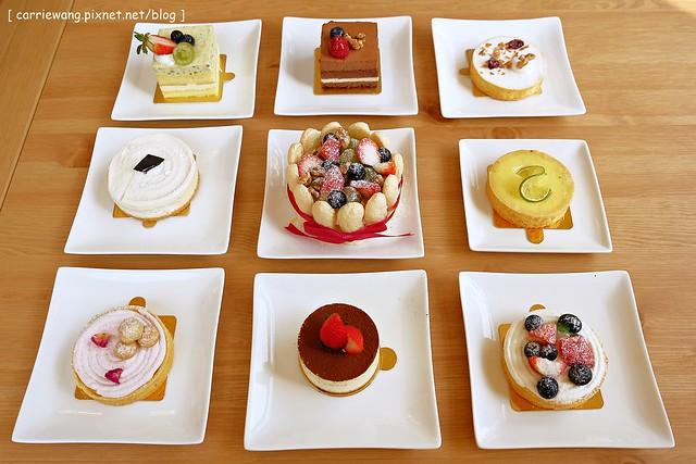 【台中蛋糕甜點】米之朵甜點房 Naissance。使用英國進口teapigs茶品,義大利進口咖啡豆,塔類甜點比較不推,其他口味都還不錯 @飛天璇的口袋