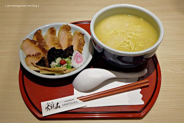 【台中拉麵推薦】山頭火拉麵 SANTOUKA RAMEN@台灣四號店。來自北海道旭川的拉麵,現在台中大遠百就吃的到了 @飛天璇的口袋