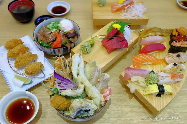 【台北餐廳美食】和歌壽司。位於台北火車站附近,中價位的日本料理店,餐點種類選擇性多,綜合握壽司一次品嚐三種口味 @飛天璇的口袋