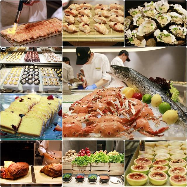 【台北美食推薦】漢來海港百匯餐廳@台北SOGO敦化店。20餘種蟹蟳類、7大特色座位區、Prime級美國牛肉、珠寶櫃般的甜點 @飛天璇的口袋