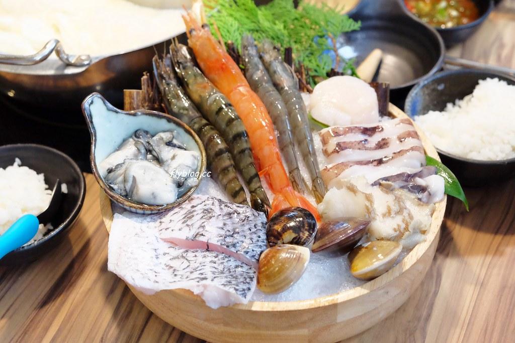 牧石鍋物┃桃園美食:食材頂級澎派的鴛鴦火鍋,環境簡單有質感,不喜歡蔬菜還可以換成海鮮 @飛天璇的口袋