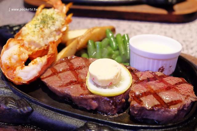 牛排屋88.Steak House 88┃沖繩美食推薦:位於那霸國際通上,有高達20種餐點可以選擇,大啖石垣牛壽司和海陸套餐 @飛天璇的口袋
