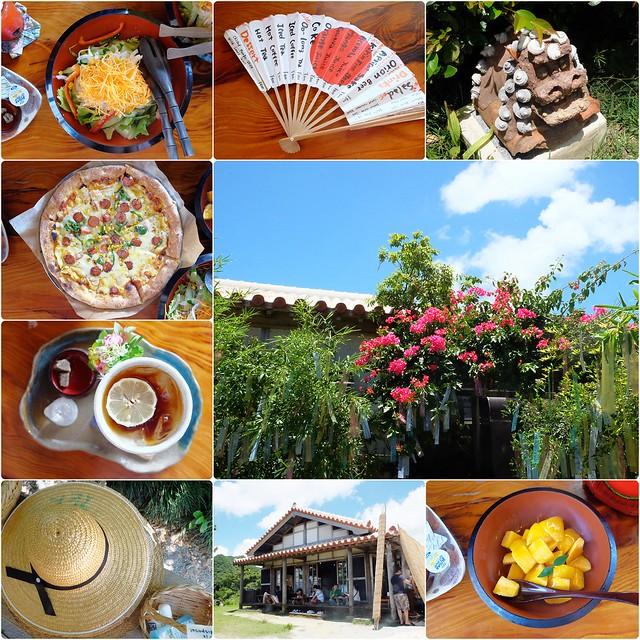 花人逢.かじんほう┃沖繩美食推薦:擁有無敵美景的餐廳,在日式老宅裡品嚐披薩的美味,人多時有候位的心裡準備 @飛天璇的口袋