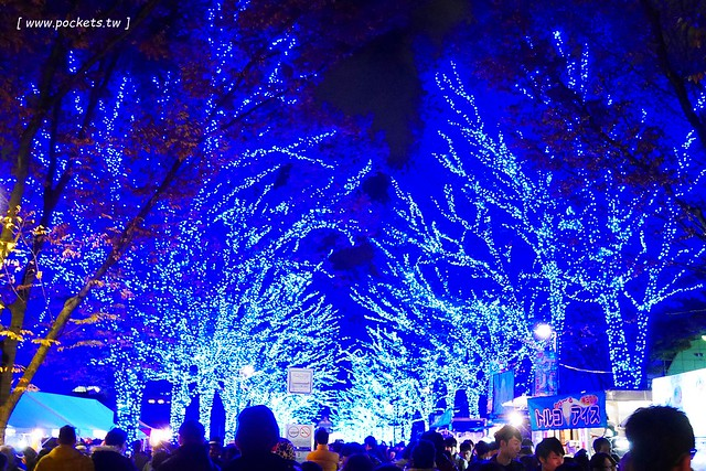 澀谷青之洞窟 SHIBUYA┃東京旅遊景點:全長約800公尺的藍色燈海,從代代木公園延伸到澀谷公園,2017年資訊更新:2017年11月22日(星期三) – 2017年12月31日 @飛天璇的口袋