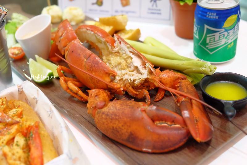 Captain Lobster龍蝦堡台中快閃店┃台中西屯美食:整隻500公克重的豪華活龍蝦,還多了古巴三明治和松葉蟹堡,超霸氣龍蝦套餐千元有找 @飛天璇的口袋