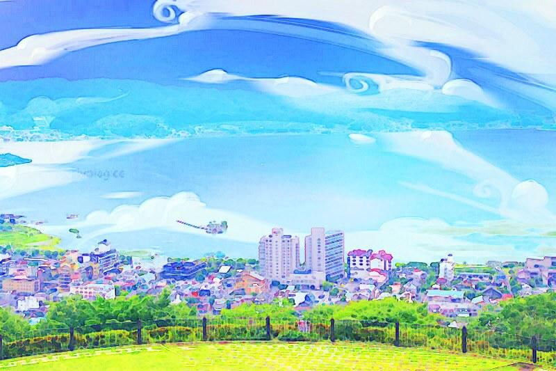 """日本長野┃諏訪湖:動漫電影""""你的名字""""中系守湖的場景巡禮,同場加映日本最古老的神社之一~諏訪大社 @飛天璇的口袋"""