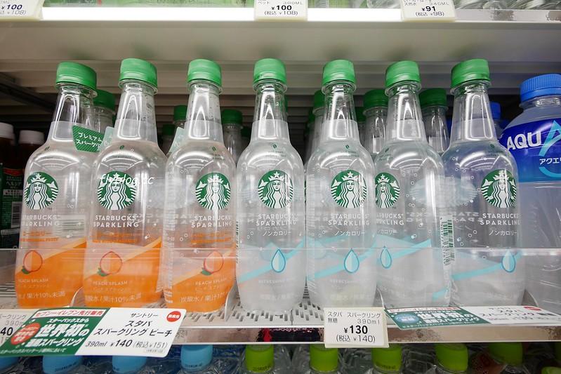 星巴克透明咖啡┃日本:7-11限定星巴克透明氣泡水,還有Suntroy、可口可樂い・ろ・は・す和其他天然水加味礦泉水(氣泡水)比一比 @飛天璇的口袋