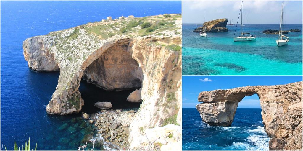 Malta馬爾他的三個藍┃歐洲馬爾他:電影特洛伊木馬取景地藍洞Blue Grotto、權力遊戲拍攝地藍窗Azure Window、馬爾他最美的海域藍湖Blue Lagoon @飛天璇的口袋