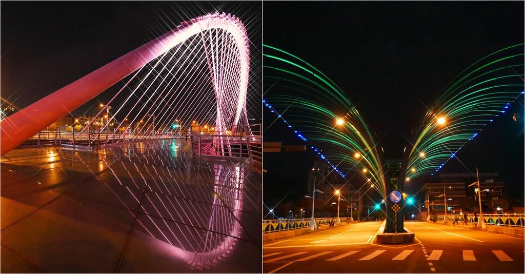 大坑四座橋:浪漫情人橋、大坑清新橋、藍天白雲橋、大坑單車橋,白天晚上都有不同的風采,台中旅遊景點推薦 @飛天璇的口袋