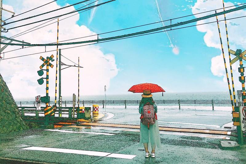 鎌倉平交道┃日本東京:傳說中的灌籃高手平交道,就算不是卡通迷也要來朝聖一下 @飛天璇的口袋