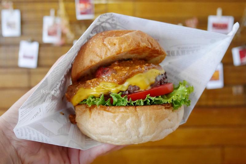 初心漢堡 Stay Gold┃台中北屯:從餐車到實體店面,用心好吃的手作漢堡,副餐飲料也很有水準 @飛天璇的口袋
