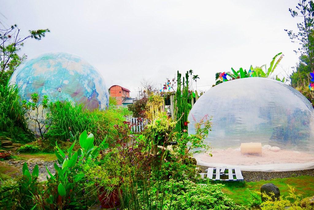 多肉秘境:可愛又療癒的泡泡屋,還有6米大藍色地球,埔里IG打卡熱門旅遊景點 @飛天璇的口袋