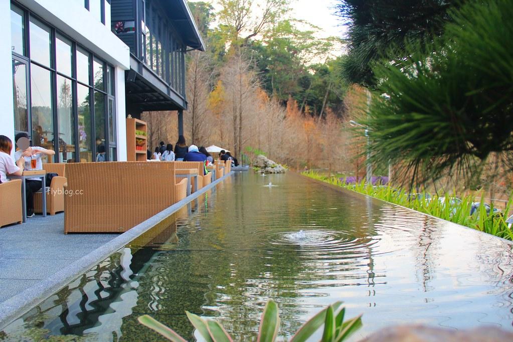 松之戀:座落於新社夢幻湖旁1.5公頃落羽松森林,五星飯店廚師團隊打造美味餐點 @飛天璇的口袋