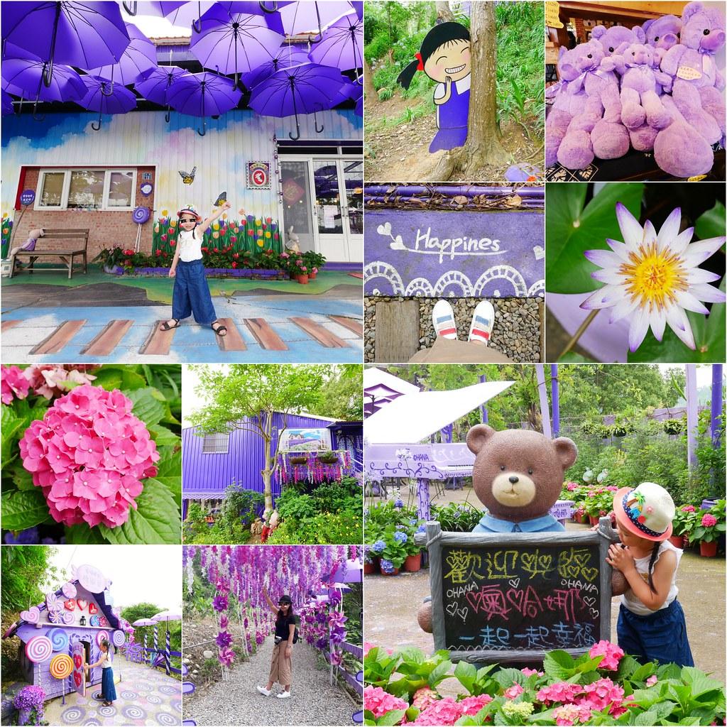 噢哈娜咖啡屋:浪漫紫色愛情傘、夢幻紫色步道、季節限定紫藤花…苗栗情侶約會親子旅遊的好地方 @飛天璇的口袋