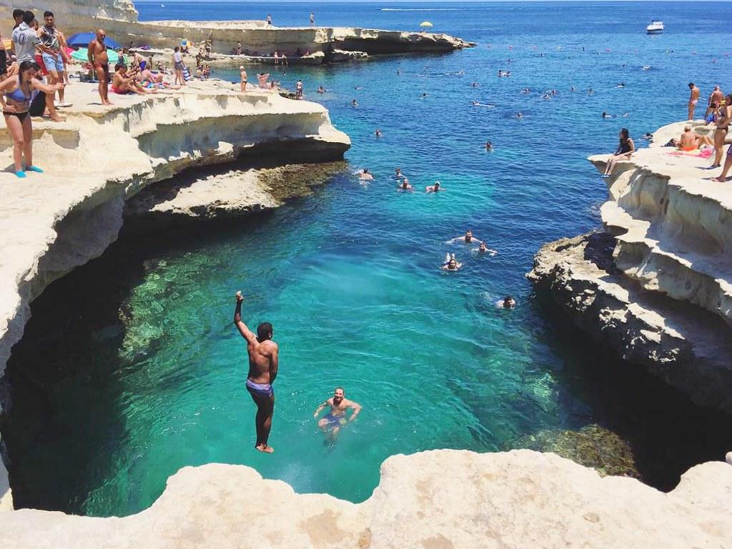 St Peter's Pool.聖彼得池┃馬爾他旅遊:地中海小國馬爾他的懸崖跳水天堂,海水清澈景色迷人連總理也愛 @飛天璇的口袋