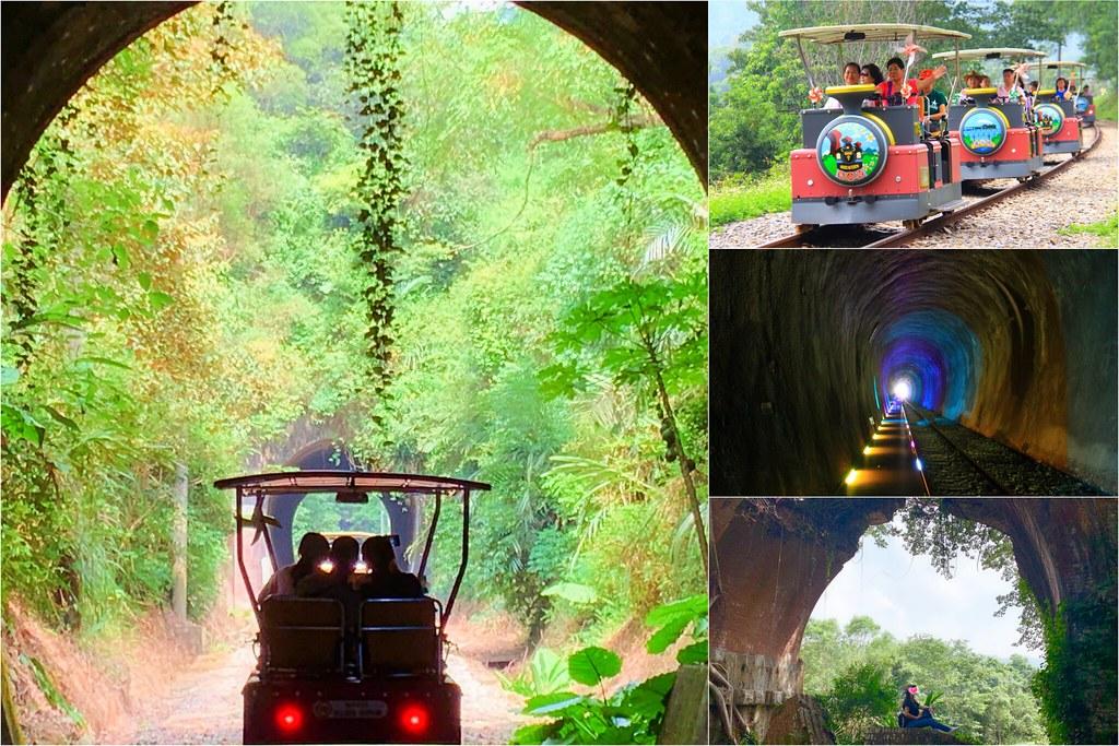 三義舊鐵道自行車Rail Bike┃苗栗旅遊:最美莫過C路線,一覽6號隧道、鯉魚潭和龍騰斷橋美景! @飛天璇的口袋