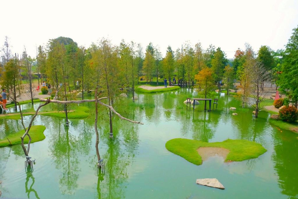 澄霖沉香味道森林館:浪漫的愛心落羽松池塘,日式禪風庭院台版兼六園 @飛天璇的口袋