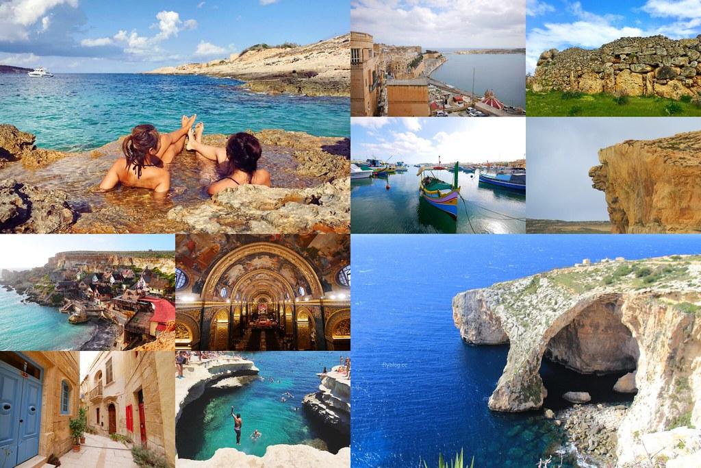 馬爾他旅遊景點:地中海的藍寶石,Malta十大旅遊景點推薦 @飛天璇的口袋