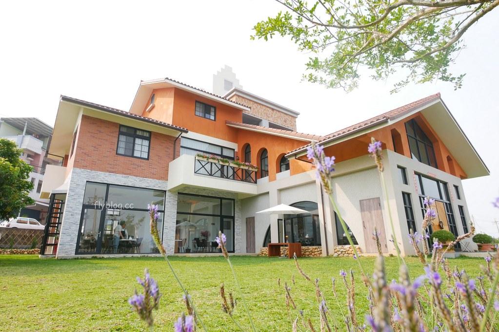 新社山水啡:擁有大片綠地和田園風情,漂亮落地窗建築,新社新開幕景觀餐廳 @飛天璇的口袋