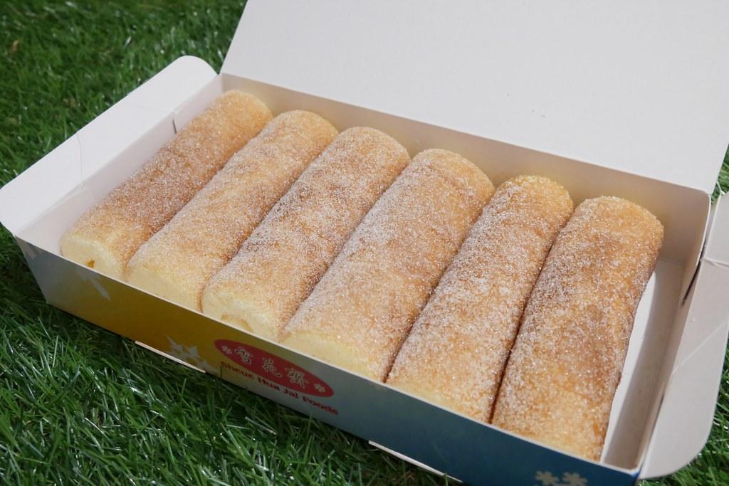 豐原雪花齋:超好吃的古早味蛋糕捲,豐原享譽全台的百年老店 @飛天璇的口袋