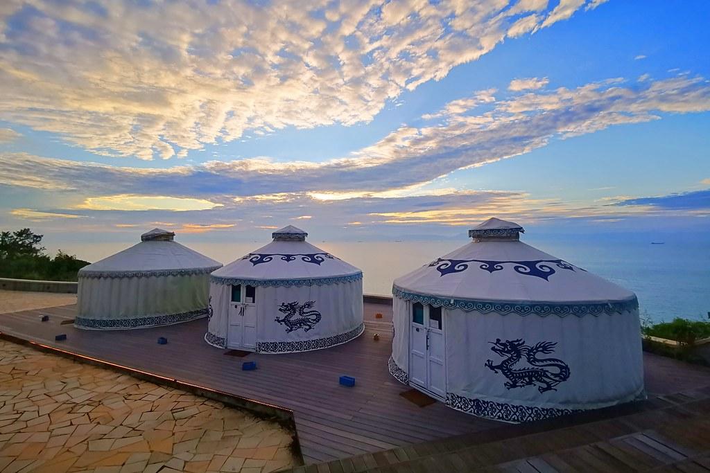 馬祖覓境E19蒙古包露營區:欣賞無敵海景絕美夕陽, 馬祖南竿好吃的餐酒館 @飛天璇的口袋