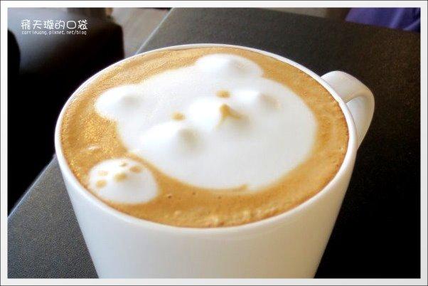【台中早午餐】惹咖啡。有隱藏版的小熊拉花拿鐵哦! @飛天璇的口袋