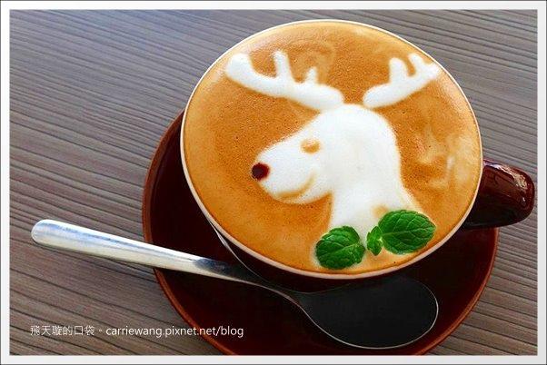 【台中咖啡館】Deer Café.迷鹿咖啡。有隱藏版的糜鹿拉花拿鐵哦! @飛天璇的口袋